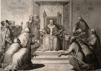 Clemente V  72 Templarios