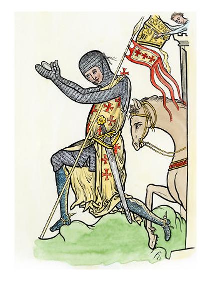 Praying Knight Templar